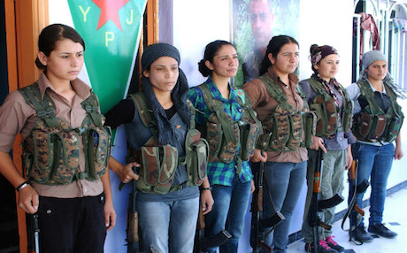 Kurdish YPG fighters, Rojava.