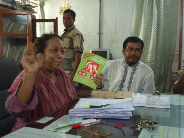 Head Teachers of Dhaka Bodhir High School with Bangladesh Sign Language Book