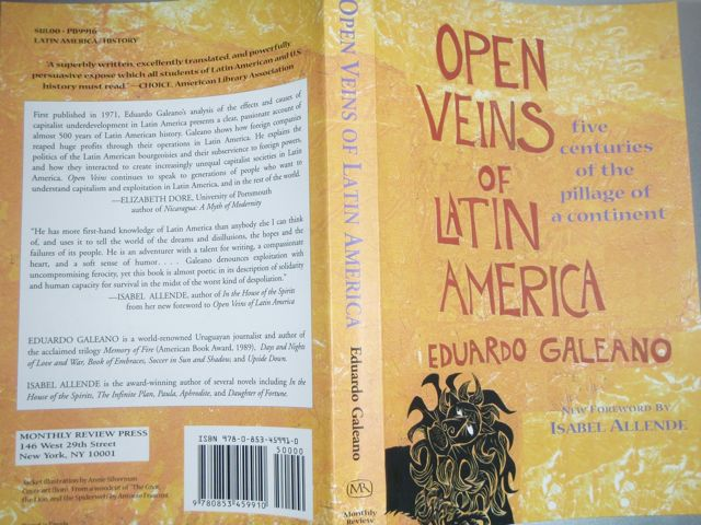 Eduardo Galeano's Open Veins of Latin America Yellow Cover