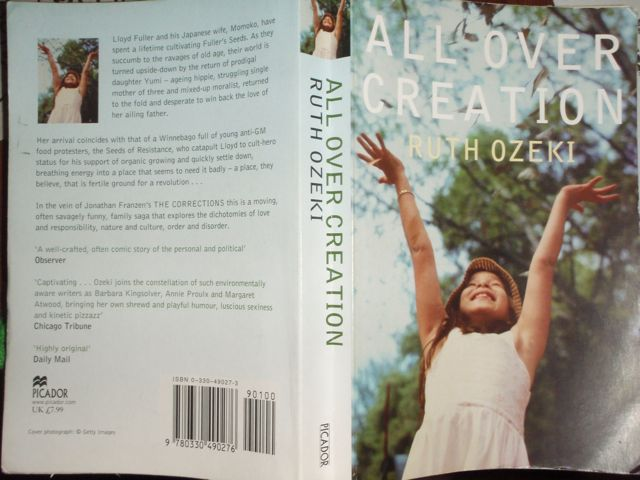 Exuberant Little Girl Cover of Ruth L. Ozeki's All Over Creation