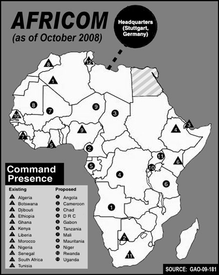 ZCommunications AFRICOM Washingtons New Imperial Weapon - Us military bases in africa map