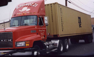 truck loaded with container