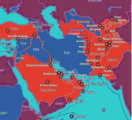 ZCommunications » Ring of Iranian Bases Threatens US