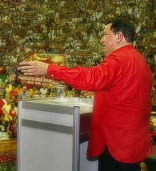 Hugo Chavez at the 2005 World Social Forum